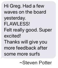 Testimonial by Steven Potter